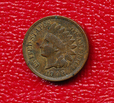 1908 Indian Head Cent **full Liberty - Nice Circulated Coin** Free Shipping!