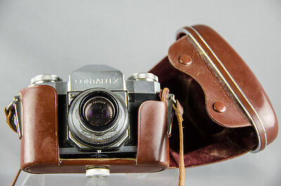 Vintage ZEISS IKON Contaflex 45mm Camera and Case Carl Zeiss 45mm 1:2.8 Lense