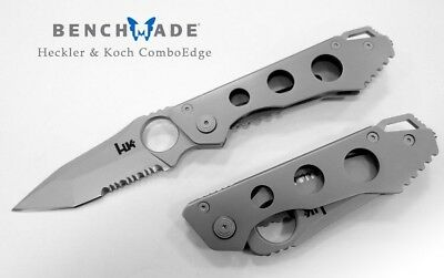 HK by BENCHMADE ALLY 14447SG PARTIALLY SERRATED FOLDING POCKET KNIFE-AUS8-NEW
