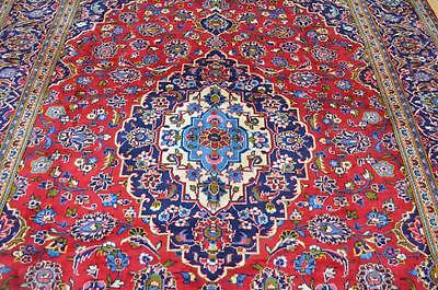 8 x 10'5 Lovely Authentic Semi Antique Persian Kashan Hand Knotted Wool Area Rug