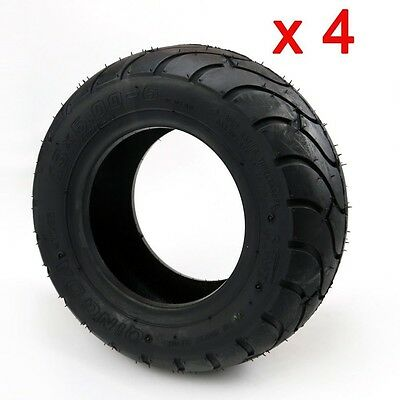 "4pcs 13 x 5.00 - 6"" Inch Tire Rim Wheel ATV QUAD Bike Gokart 4 Wheeler Buggy"