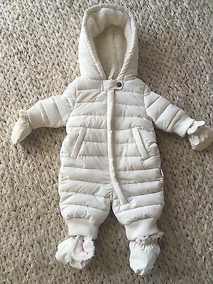 Pumpkin Patch Baby Size NB 0000 Snowsuit Bearsuit Winter Mittens Booties Warm