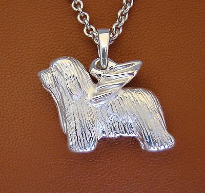 LARGE Bearded Collie Angel Pendant