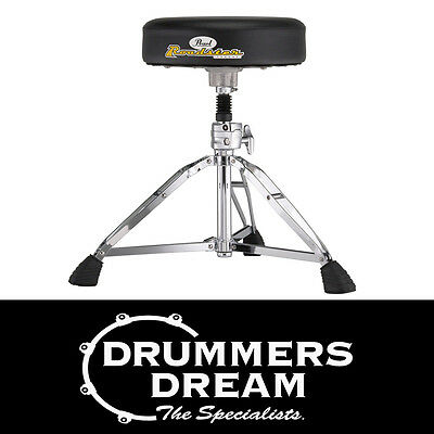 """Pearl D-1000SPN Drum Throne Stool Height Adjustable Round 13"""" Cushion Brand New"""