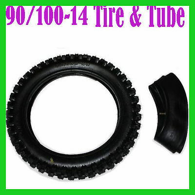90/100 14 inch Rear Knobby Tyre Tube Dirt Pit Bike for Atomik Thumpstar Tire