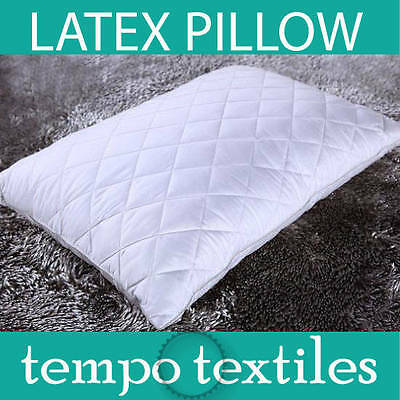 100% Natural Eco Latex Support Cloud Soft Pillow-White Padded Cover Allergy Free