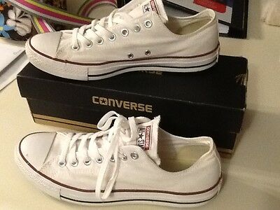 Converse All Star White Fashion Athletic Sneaker Adult Unisex, Mens 9, Womens 11