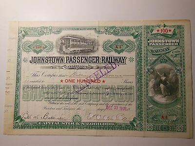 1916 Johnstown Traction Company Harrisburg PA - Trolley Stock - Issued