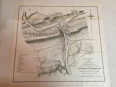 "1875 Topographical Map of ""Environs Lehigh Gap"" - 2nd Geological Survey of PA"