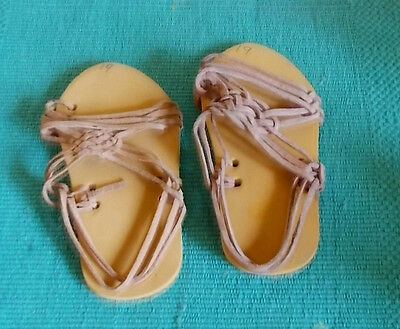 Children's / Baby's Leather Huarache Sandals-Saddle Tan-Marked 19-made in Mexico
