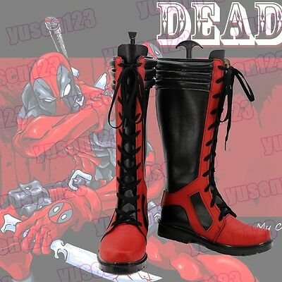 New X-men Deadpool Cosplay Shoes Boots Men's Helloween Customized Shoes