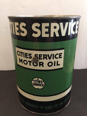 Cities Service Motor Oil Quart Can