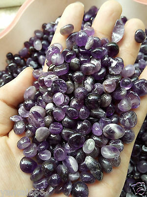 NEW 100% Natural Lot of Tiny Clear Amethyst Quartz Crystal Rock Chips 50g S2