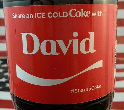 Share A Coke With David Limited Edition Coca Cola Bottle 2017 USA