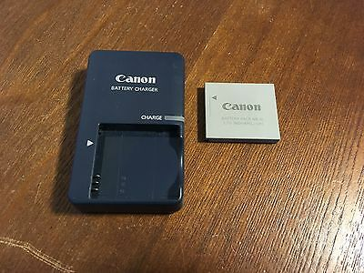 Genuine CANON CB-2LV Wall Charger w/ CANON NB-4L Li-Ion Rechargeable Battery