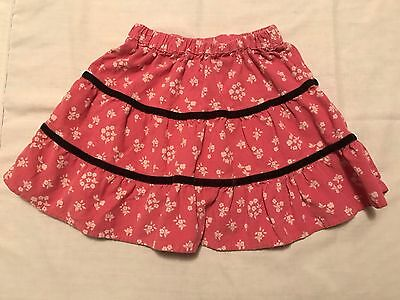 Mini Boden Girls Skirt Size 12-18M Corduroy Skirt Pink Floral