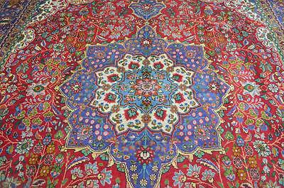 9'5x13'1 Gorgeous Genuine Semi Antique Persian Tabriz Hand Knotted Wool Area Rug