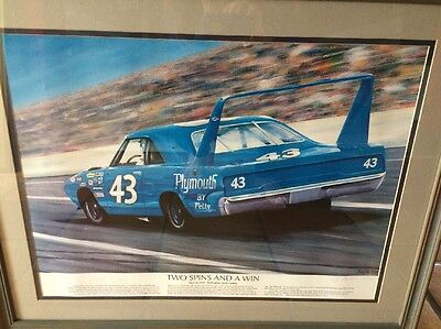 Richard Petty Autographed Painting of the #43 Car with Authenticity Certificate