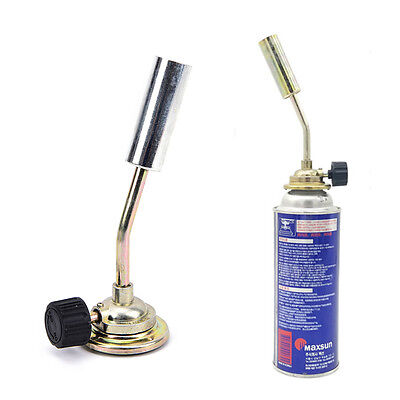 Gas jet flame burner gun fire lighter gas torch for outdoor picnic camping QY0