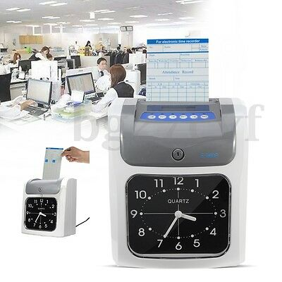 Electronic Employee Time Attendance Bundy Clock Recorder with Time Clock Cards