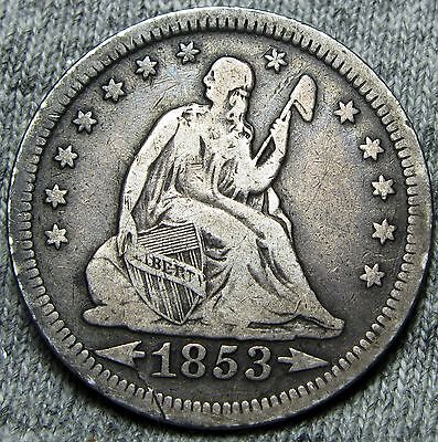 1853 Seated Liberty Quarter Dollar --- TYPE COIN,NICE DETAILS --- #N160