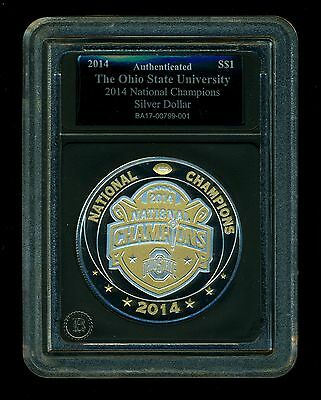 2014 Fiji Proof Dollar 1 oz. .999 Silver - Ohio State Buckeyes, National Champs