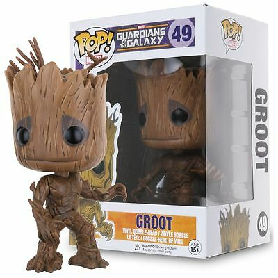 #Funko POP Bobble Head Marvel Guardians of the Galaxy Dancing Groot Vinyl Figure