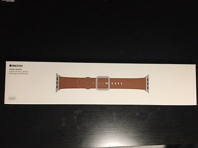 NEW Apple Watch Leather Buckle 42mm BROWN