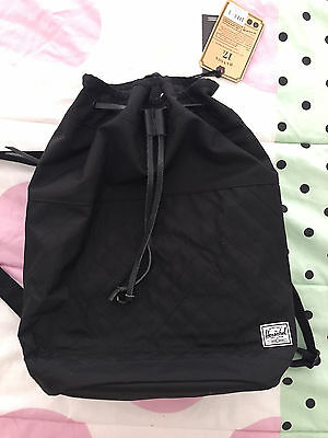 BRAND NEW Herschel Supply Co. Hanson Black backpack bag summer Urban Outfitters