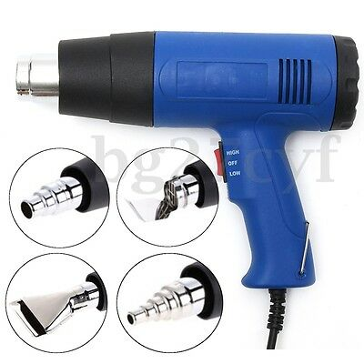 110V 1500W Hot Air Heat Gun Dual Speed Temperature + 4 Nozzles Power Tool Kit