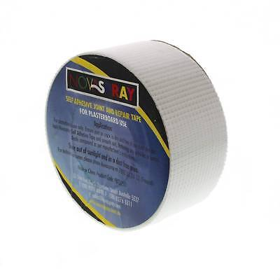 Tape Fibreglass 50mm x 50m Strong Adhesive Rigid Fibre Glass Mesh Joining