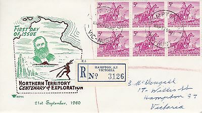 BD497)Australia 1960 Nth'n Terr. Centenary of Exploration brown and green cachet