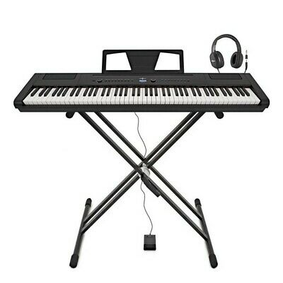 SDP-3 Stage Piano by Gear4music + Stand Pedal and Headphones