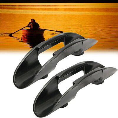 2pcs Kayaking Canoeing Boat Quick Mount Plastic Paddle Clip Holder Accessories