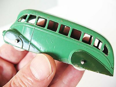 Dinky Toys No29b Streamlined Bus 2 tone green Late pre-war / early post-war  VGC