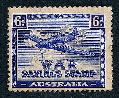 Cinderella • Australia • 1940's • 6d War Savings Stamp • Boulton Paul 'Defiant'