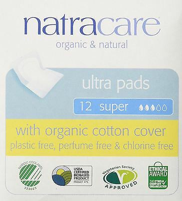 Natracare Natural Ultra Pads Super With Wings 12s (Pack of 8)