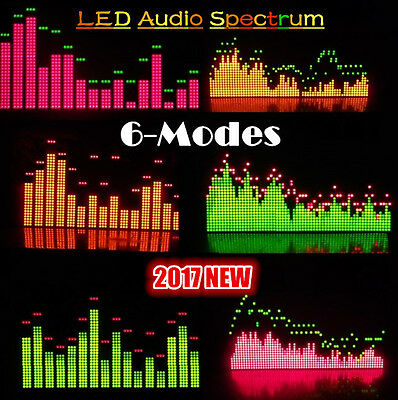 6 Modes LED Music Sound Audio Spectrum Level Display Screen Indicator Analyzer