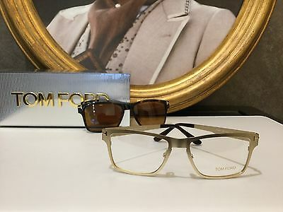 Tom Ford Eyewear Eyeglasses Occhiale vista TF5475 Col.32E CLIP-ON New Collection