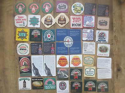 46 different SOUTHWALK BREWERY,South Australia,collectable BEER COASTERS