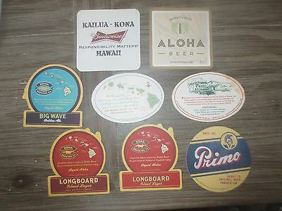 8 different HAWAIIAN BEER / BREWERIES,collectable BEER COASTERS