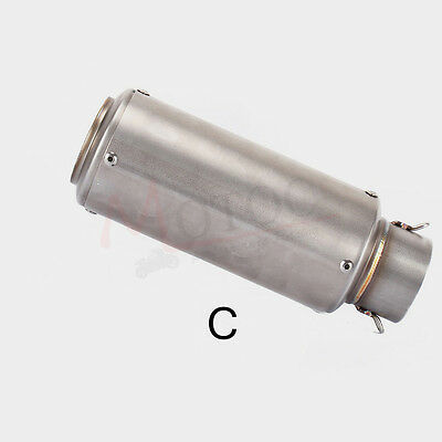 61mm Universal Motorcycle Exhaust Muffler Modified Exhaust Stainless Steel