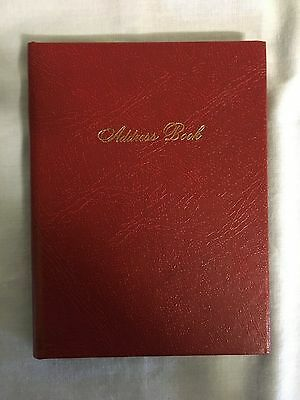 Address Book Red Index Pages