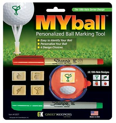 Green Keepers MYball - Pennarello per personalizzare le palline da golf, multic
