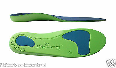Sole Control Pro Orthotic Insoles Arch Support, Heel Cup metatarsal pad 1 pair