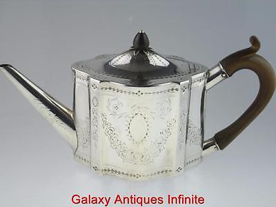 Scottish 18th Century Solid Silver Teapot 1784 Edinburgh By Patrick Robertson
