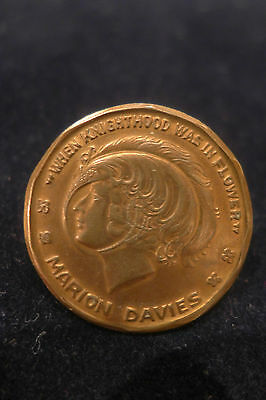 Souvenir Medal Coin Token Marion Davies Silent Movie 1922 Knighthood In Flower