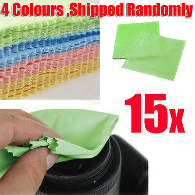 15x MICROFIBRE CAMERA LENS GLASSES CLEANING CLOTHS SPECTACLE CLOTH CLEANER