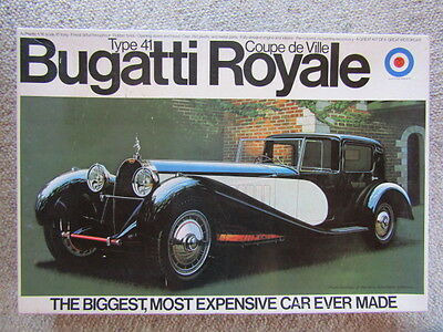 Entex Rare Vintage 1:16 Scale Bugatti Royale Type 41 Coupe deVille Model Kit New