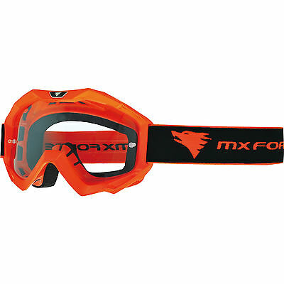 MX Force Magen Solid Orange Motocross Goggles Moto-X Off Road Enduro Dirt Bike